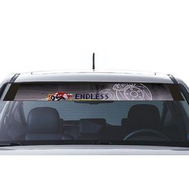 Speedwav Car Front Windshield Sporty Sticker Purple & Grey-Endless