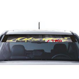 Speedwav Car Front Windshield Sporty Sticker Grey & Yellow-TRD Racing Development