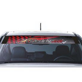 Speedwav Car Front Windshield Sporty Sticker Grey & Red-GReddy Turbo Systems