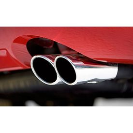 Speedwav A28 Round Twin Pipe Car Exhaust Silencer Tip Chrome