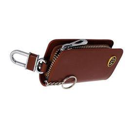 Speedwav Stylish VIP Car Key Zipper Pouch-Brown