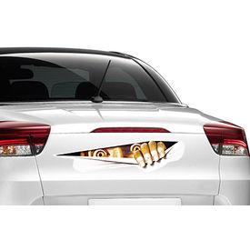 Speedwav Car Boot/Dicky 3D Peeking Monster Sticker-Scared Eyes