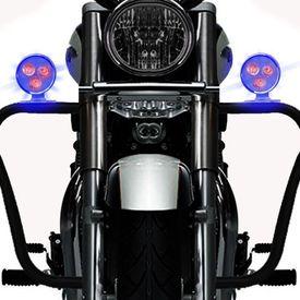 Speedwav 3 LED Round Strobe Light Flasher BLUE Set of 2