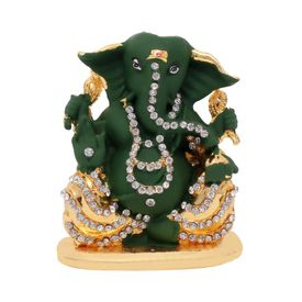 Speedwav Car Dashboard Stylish God Idol-Lord Ganesh Ji-Green