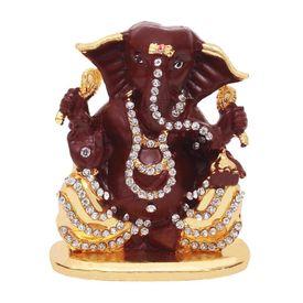 Speedwav Car Dashboard Stylish God Idol-Lord Ganesh Ji-Dark Brown