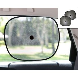 Car Side Window Sunshades Stick On Sun Shade Set Of 2-BLACk