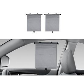Speedwav Car Side Window Roller Sunshades (Set of 2) - Grey