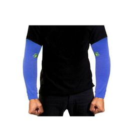 Pair of Stylish Biking/Sports Arm Sleeves for UV Sunrays Summer Protection - Blue