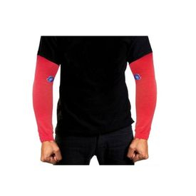 Pair of Stylish Biking/Sports Arm Sleeves for UV Sunrays Summer Protection - Red