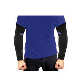 Pair of Stylish Biking/Sports Arm Sleeves for UV Sunrays Summer Protection - Black