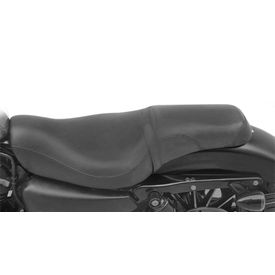 Badlander Rider & Pillion Full Seat Black for Harley Davidson