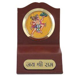 Lord Hanuman Golden Wooden Car Idol