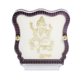 Lord Ganesha 24 Carat Gold Plated Elegant Glass Framed Car Deity Idol