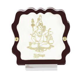 Lord Shiva 24 Carat Gold Plated Elegant Glass Framed Car Deity Idol