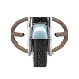 Speedwav Diamond Brown Rope Bike Safety Leg Crash Guard for Royal Enfield