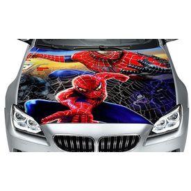 Speedwav Car Hood Bonnet Vinyl Decal Spider Man Red & Blue