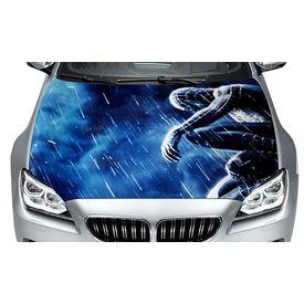 Speedwav Car Hood Bonnet Vinyl Decal Spider Man Blue