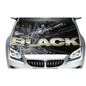 Speedwav Car Hood Bonnet Vinyl Decal BLACK GUN
