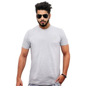 Jazzmyride Round Neck Half Sleeve T-Shirt-Grey