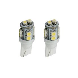 2 X 10 SMD / LED White Light Bulb for Parking Bulb / Side Indicator