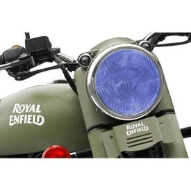Speedwav Bike Headlight Replacement Flat Glass Blue for Royal Enfield