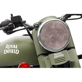 Speedwav Bike Headlight Replacement Flat Glass Brown for Royal Enfield