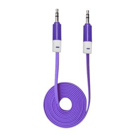 Speedwav Anti Tangle 3.5mm Car Stereo Aux Cable Wire Cord-Purple