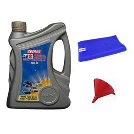 Servo Car MGO 20W40 3 Litre Engine Oil+Microfiber Cloth+Funnel