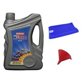 Servo Car MGO 5W30 3.5 Litre Engine Oil+Microfiber Cloth+Funnel
