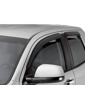 Galio Car Rain Wind Door Visor Set of 4 Black