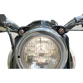 Speedwav Bike Strobe Light Grill Covers Black Set of 2 for Royal Enfield