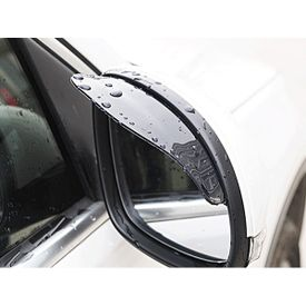 Galio Car Side Mirror Rain Guard Visors Smoke Set of 2