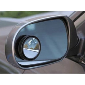 3R Round Flexible Blind Spot Rear Side Mirror Set of 2 for Cars & Bikes