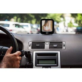 Black Label Square Shaped Gallery Mounting Photo Frame For Car