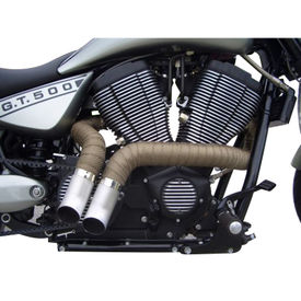 Exhaust Thermal Heat Wrap Brown for Harley Davidson