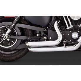 Vance and Hines Shortshots Staggered Exhaust Chrome for Harley Davidson