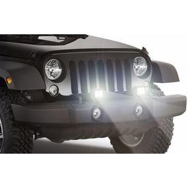 Speedwav Car 6 LED White 4 Inch Fog Aux Lights Set of 2
