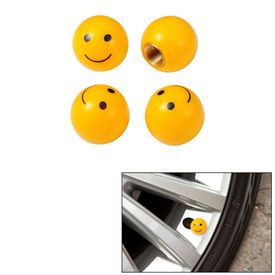 Speedwav Car/Bike Smiley Tyre Valve Caps Set of 4