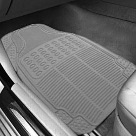 Speedwav Grey Rubber Car Floor / Foot Mats