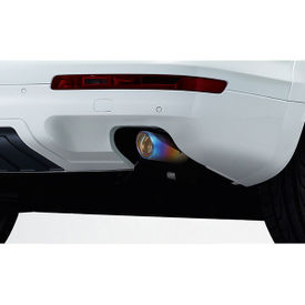 Speedwav Car Exhaust Tail Pipe Tip 10.4cm Long Multicolor