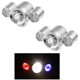 Speedwav Bike CREE U3 Triple LED Aux Lights-Silver