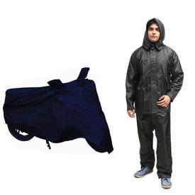 Speedwav Champion Bike Body Cover+Rain Suit Black-Size 42