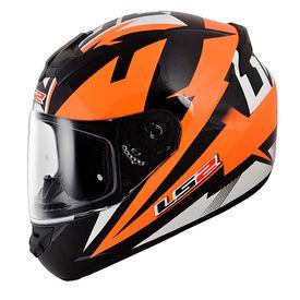 LS2 Helmet FF352-L Dyno Black Orange Gloss