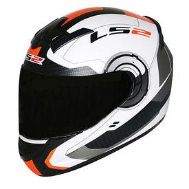 LS2 Helmet FF352-L Atmos White Orange