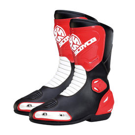 Scoyco MBT004 Bike Riding Long Shoes-Black and Red