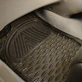 Speedwav Transparent Black Car Floor / Foot Mats
