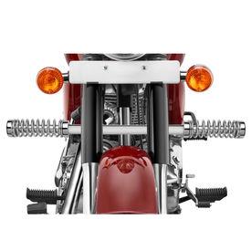 Speedwav Single Rod LG-03 Bike Spring Leg Crash Guard-Chrome for Royal Enfield