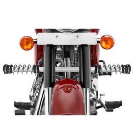 Speedwav Single Rod LG-04 Bike Spring Leg Crash Guard-Chrome for Royal Enfield