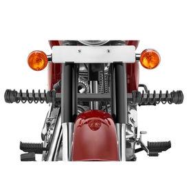 Speedwav Single Rod LG-05 Bike Spring Leg Crash Guard-Black for Royal Enfield