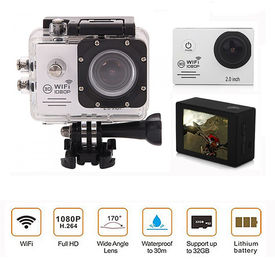 Speedwav Full HD 1080p DVR 2 Inch LCD Waterproof Action Camera with WiFi-Silver